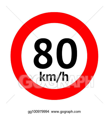 png freeuse download Drawing speed limit traffic. 80 clipart sign