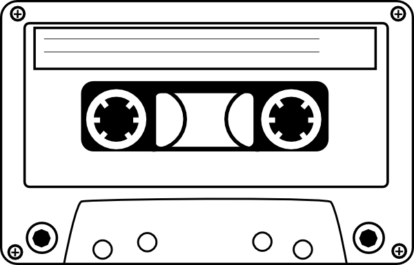 graphic library library Cassette Clip Art at Clker
