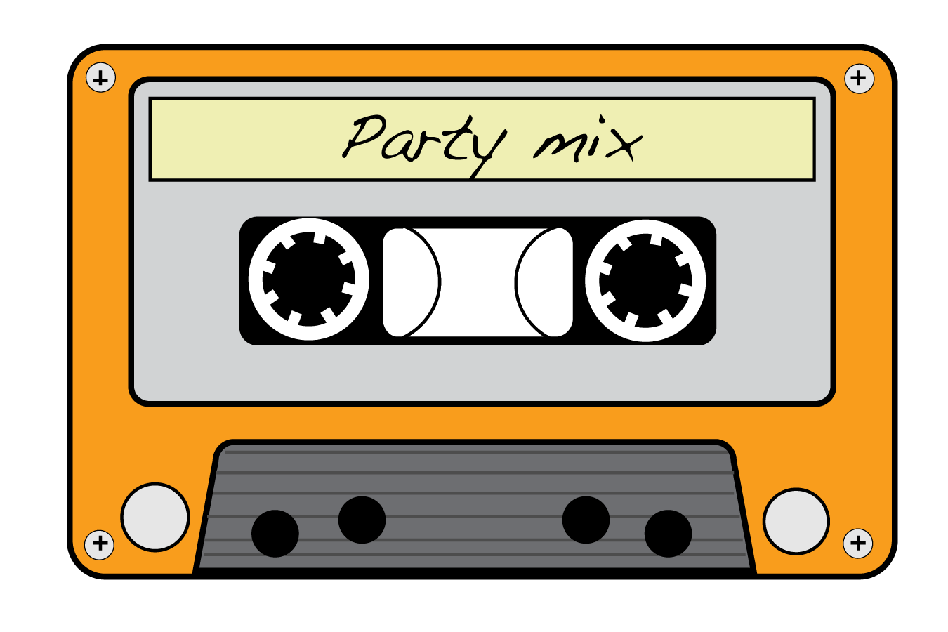 png free 80's clipart. Neon s cassette tapes