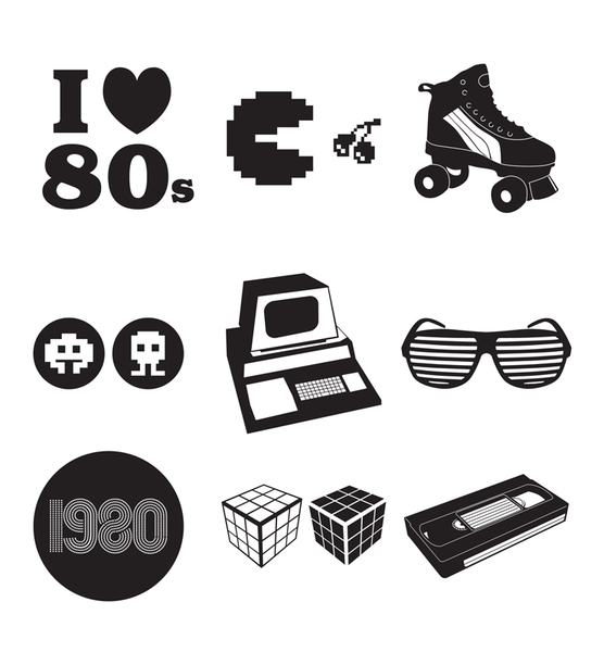 svg royalty free Free s cliparts download. 80's clipart black and white