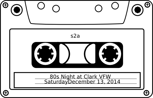 clip art royalty free  s theme night. Cassette clipart 80s party.