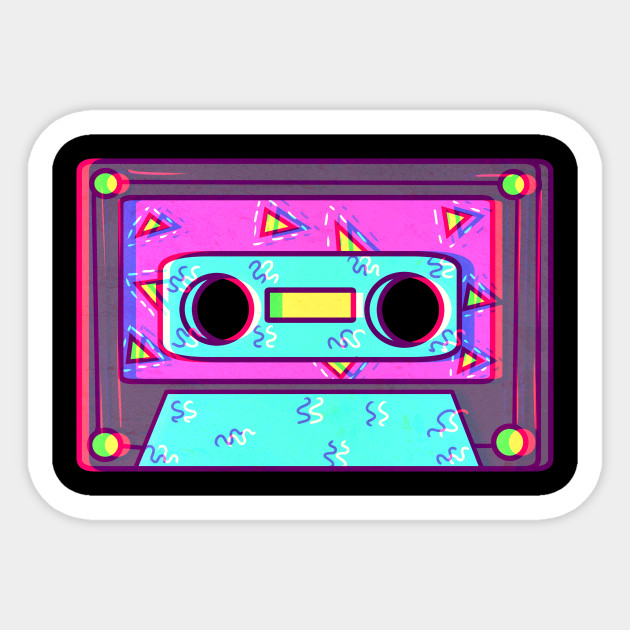 clip art royalty free stock Vaporwave s retro cassette. 80's clipart casette tape