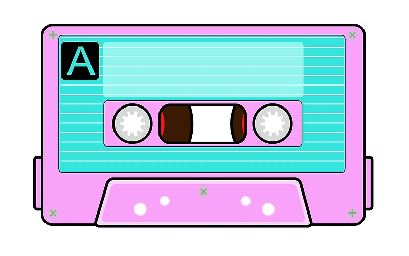 image freeuse stock Back to the s. 80's clipart casette tape