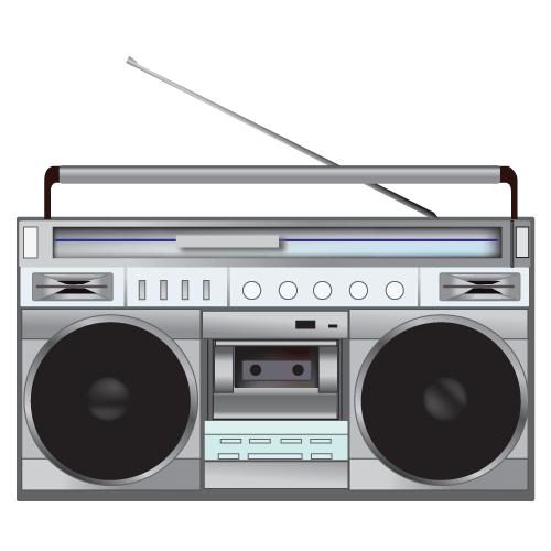clipart transparent library 80's clipart cassete. Radio s illustration transparent