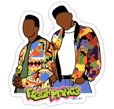 graphic royalty free stock Sticker by artsy and. 80's clipart fresh prince