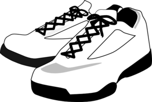 clip library stock Running shoes free on. 80's clipart high top sneaker
