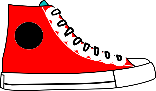 picture royalty free download Sneakers Clipart