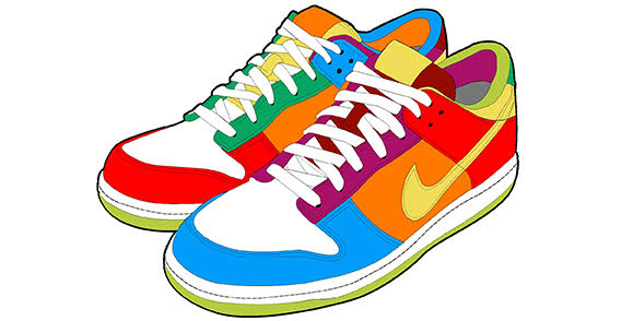 clip black and white download 80's clipart high top sneaker.  s