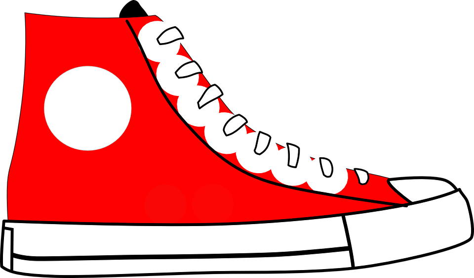 svg black and white stock Free image on pixabay. 80's clipart high top sneaker