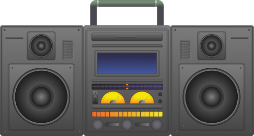 clip free download Ghetto blaster radio stereo. Boombox clipart music system