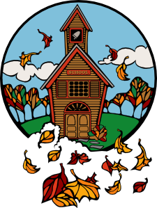 graphic royalty free library School in fall clip. 9 11 clipart artwork