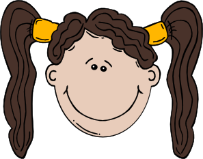 graphic Girl face clip art. 9 11 clipart cartoon