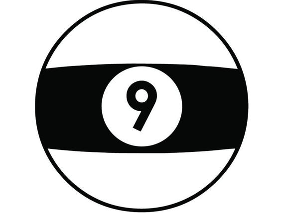 picture stock Billiards nine eight sports. 9 ball clipart
