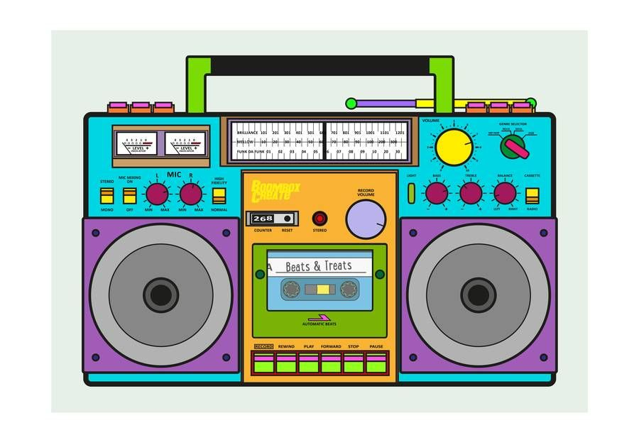 clipart free stock Colorful google search open. 90s clipart boombox.