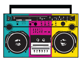 png transparent download 90s clipart boombox. Stereo radio wall decals.