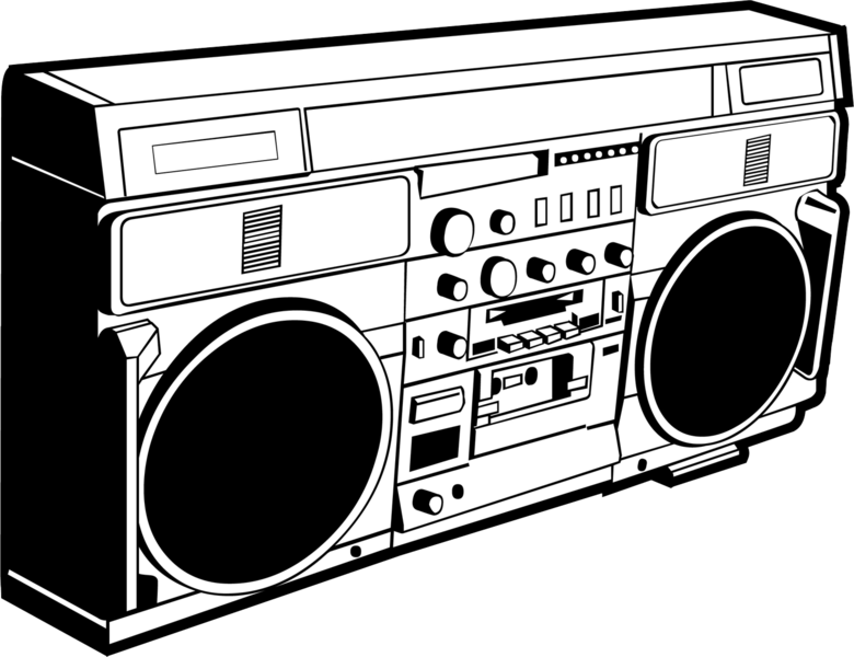 jpg free stock Boom box drawing at. Boombox clipart hip hop