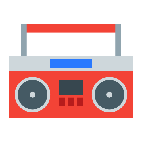banner freeuse download Icons . 90s clipart boombox.