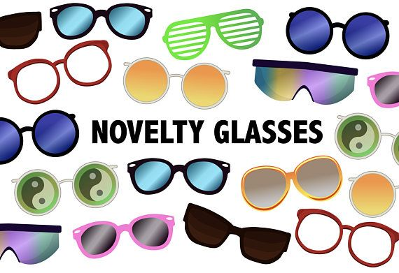 clipart 90s clipart sunglasses. Novelty glasses printable icons
