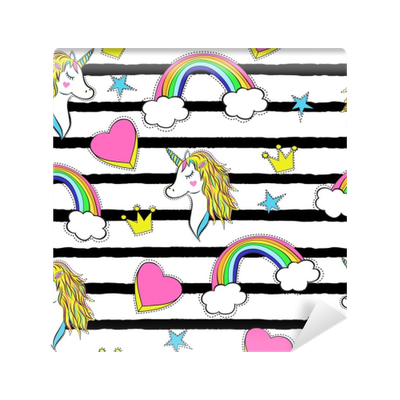clip art royalty free library Seamless pattern with cartoon. 90s clipart trendy