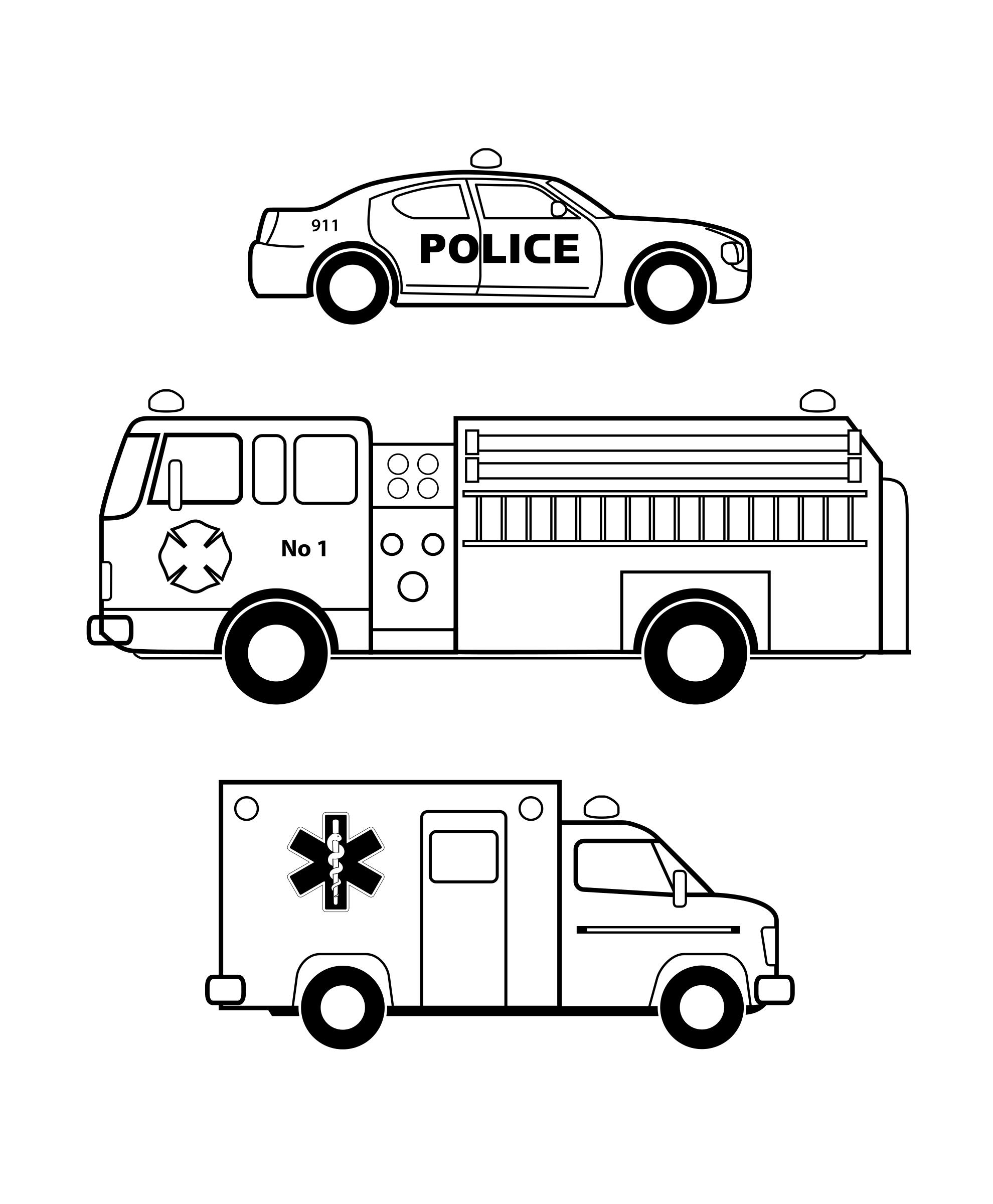 jpg free 911 clipart emergency. Vehicles black and white