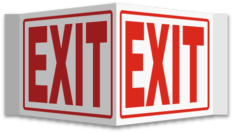 jpg royalty free 911 clipart emergency sign. Photoluminescent exit signs self