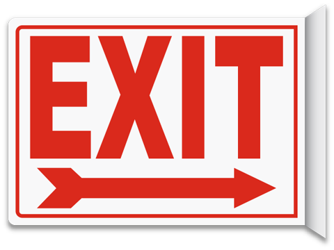 png free stock Exit signs . 911 clipart emergency sign