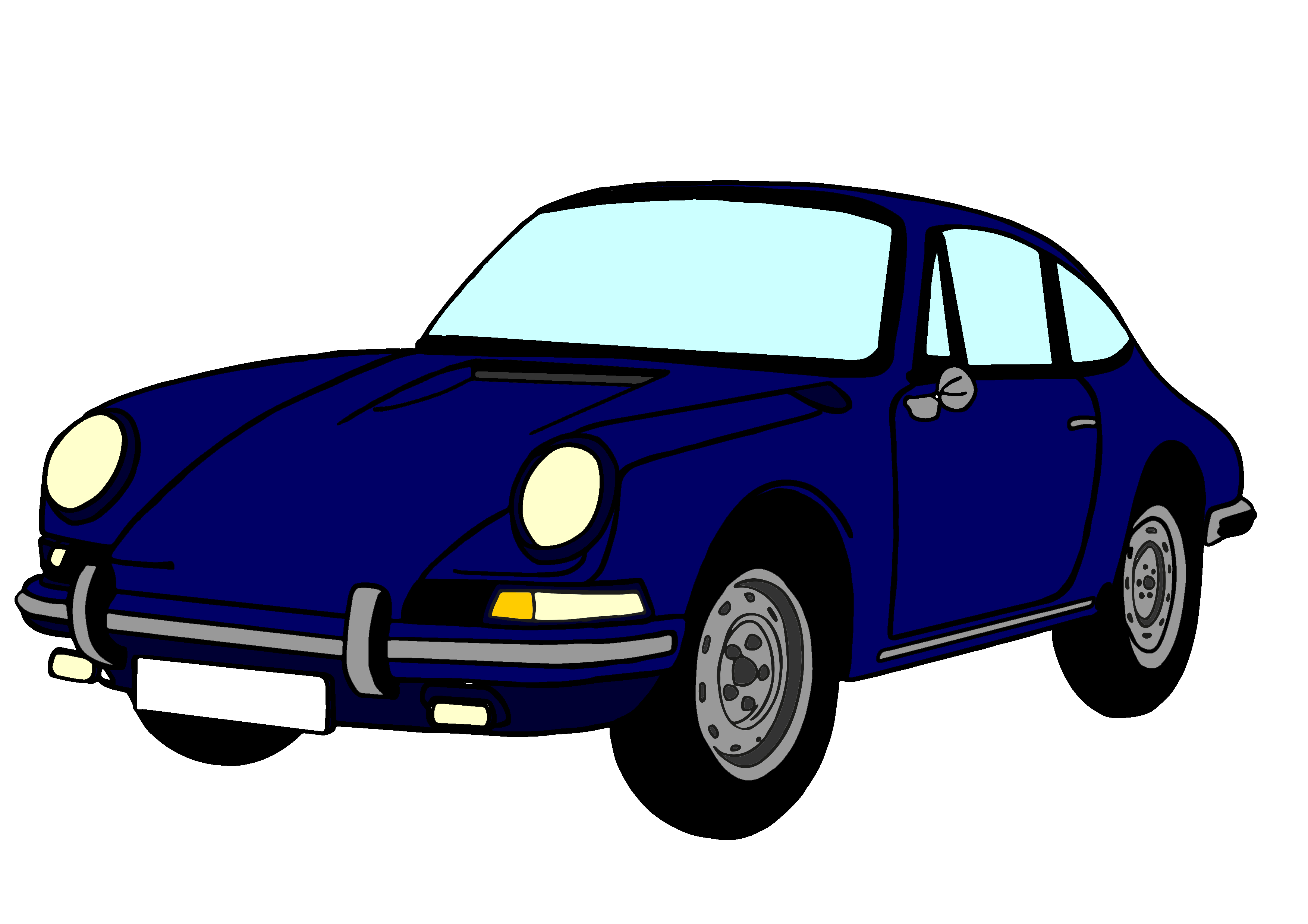 clip royalty free library Porsche cartoon for free. 911 clipart yr old.