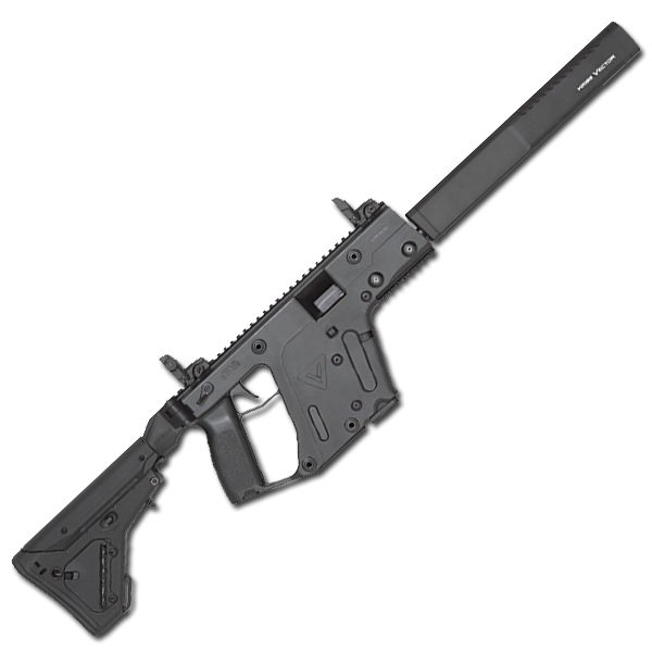 png black and white Kriss crb gen ii. 9mm vector.