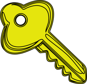 jpg library download Clipart key. Yellow clip art at.