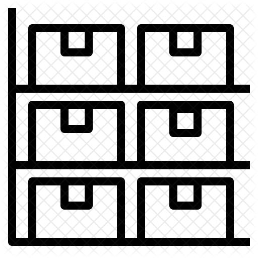 png black and white library Storage Icon