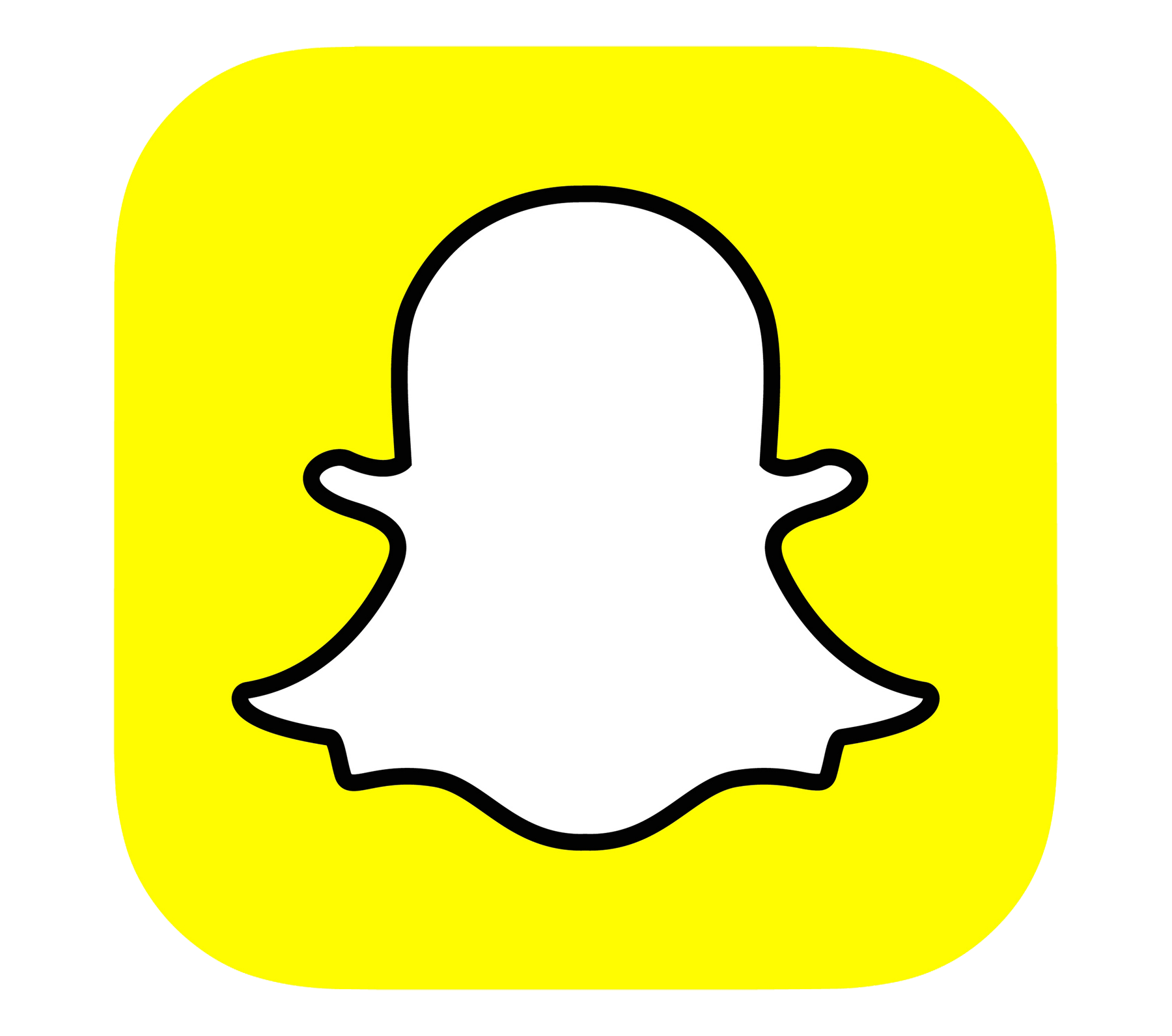 image black and white stock Logo Snapchat