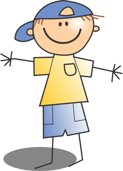 library Boy with hat . Kid clipart png.