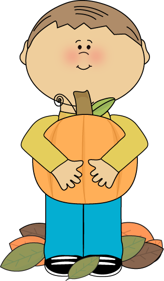 picture black and white stock A clipart boy. Holding pumpkin clip art