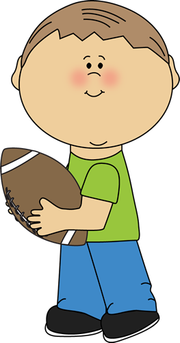 graphic library download Carrying football clip art. A clipart boy