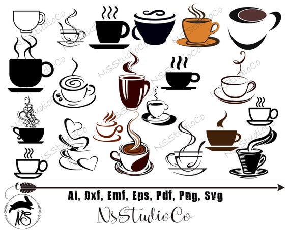 picture transparent Vector coffee file. Cup svg files digital