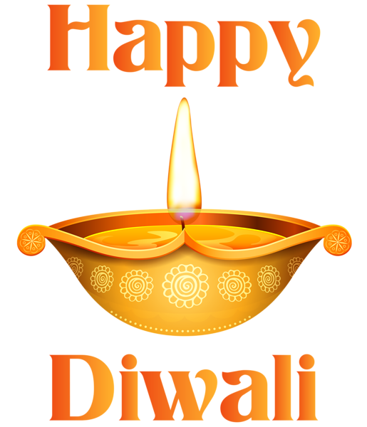 vector black and white stock Happy Diwali Candle Transparent Clip Art Image