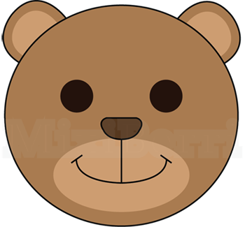 png library stock A clipart easy. Bear face drawing at
