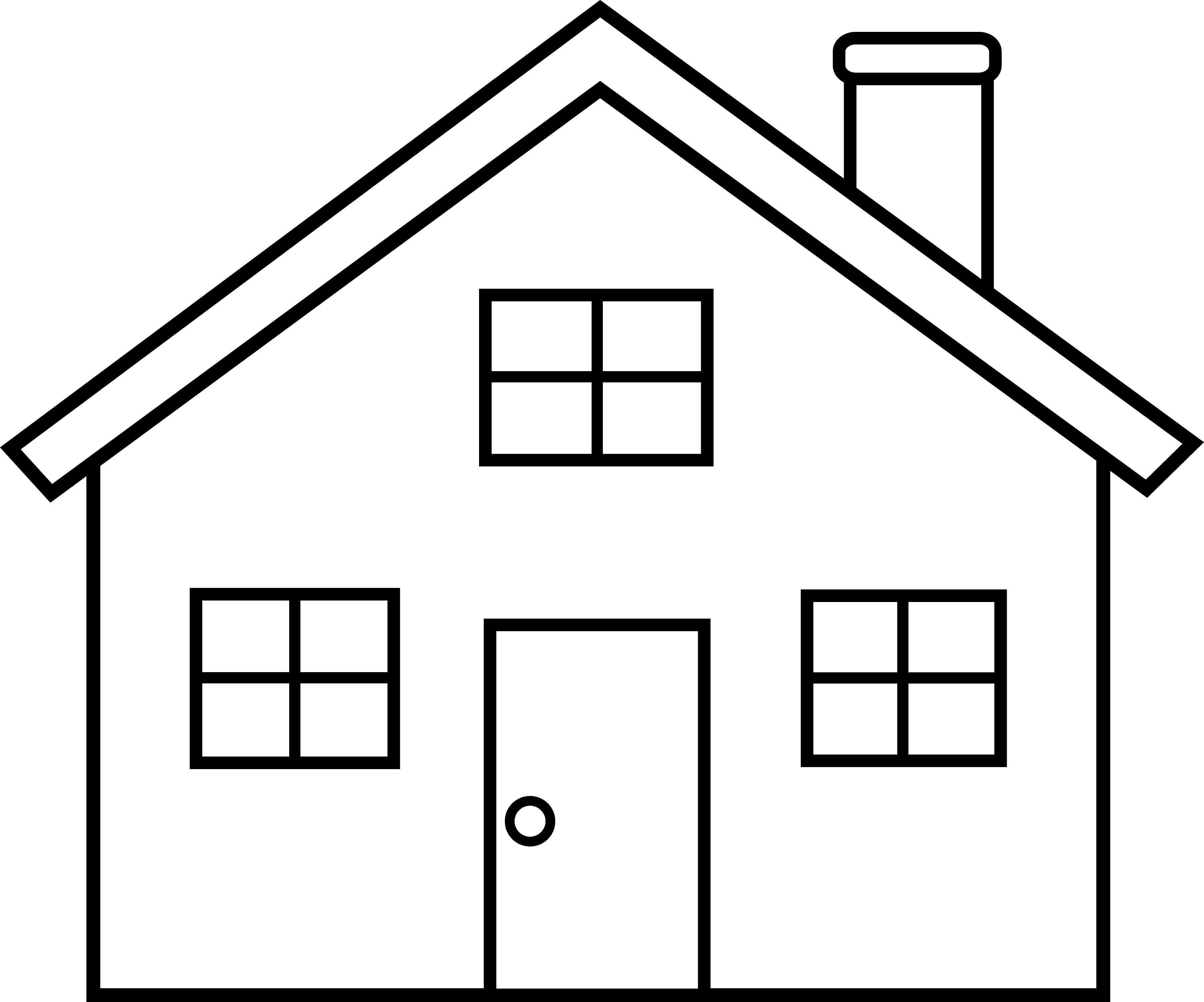 png freeuse stock Little House Line Art Free Clip Art