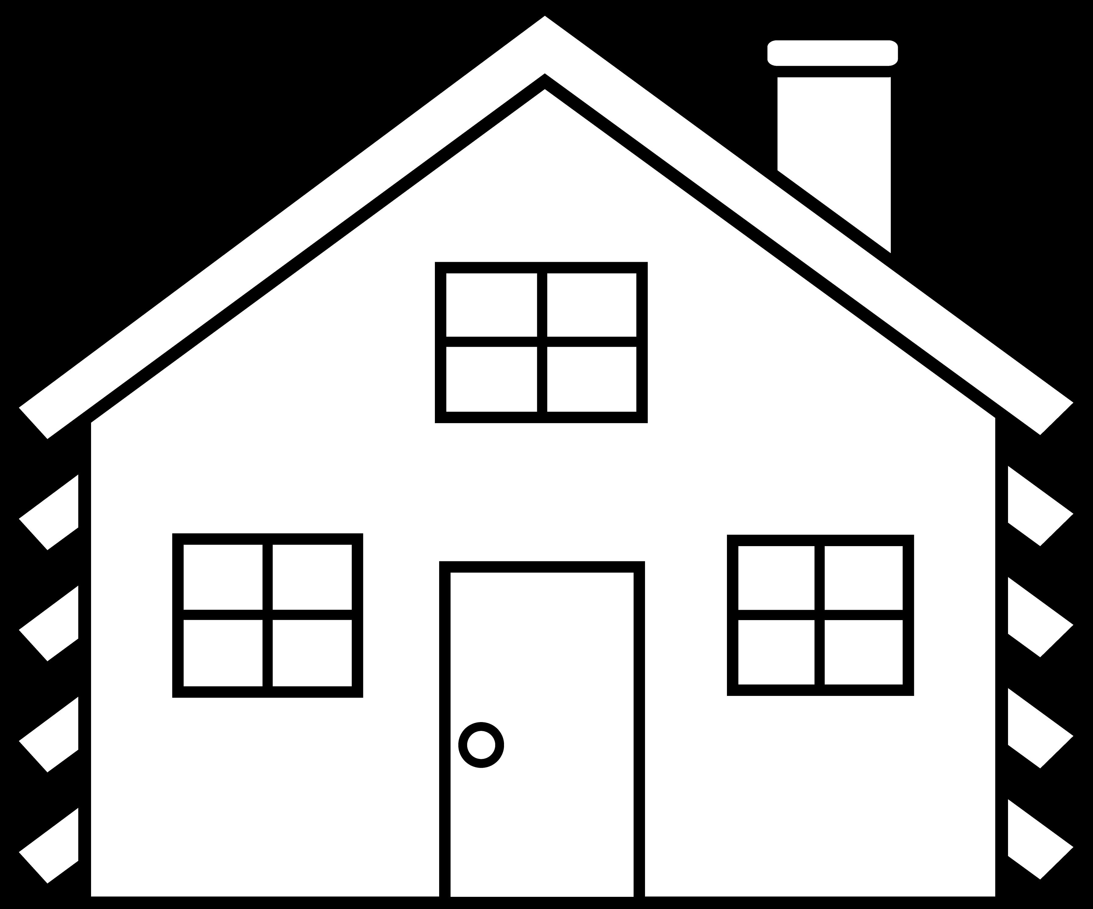 clip free stock Little House Line Art Free Clip Art