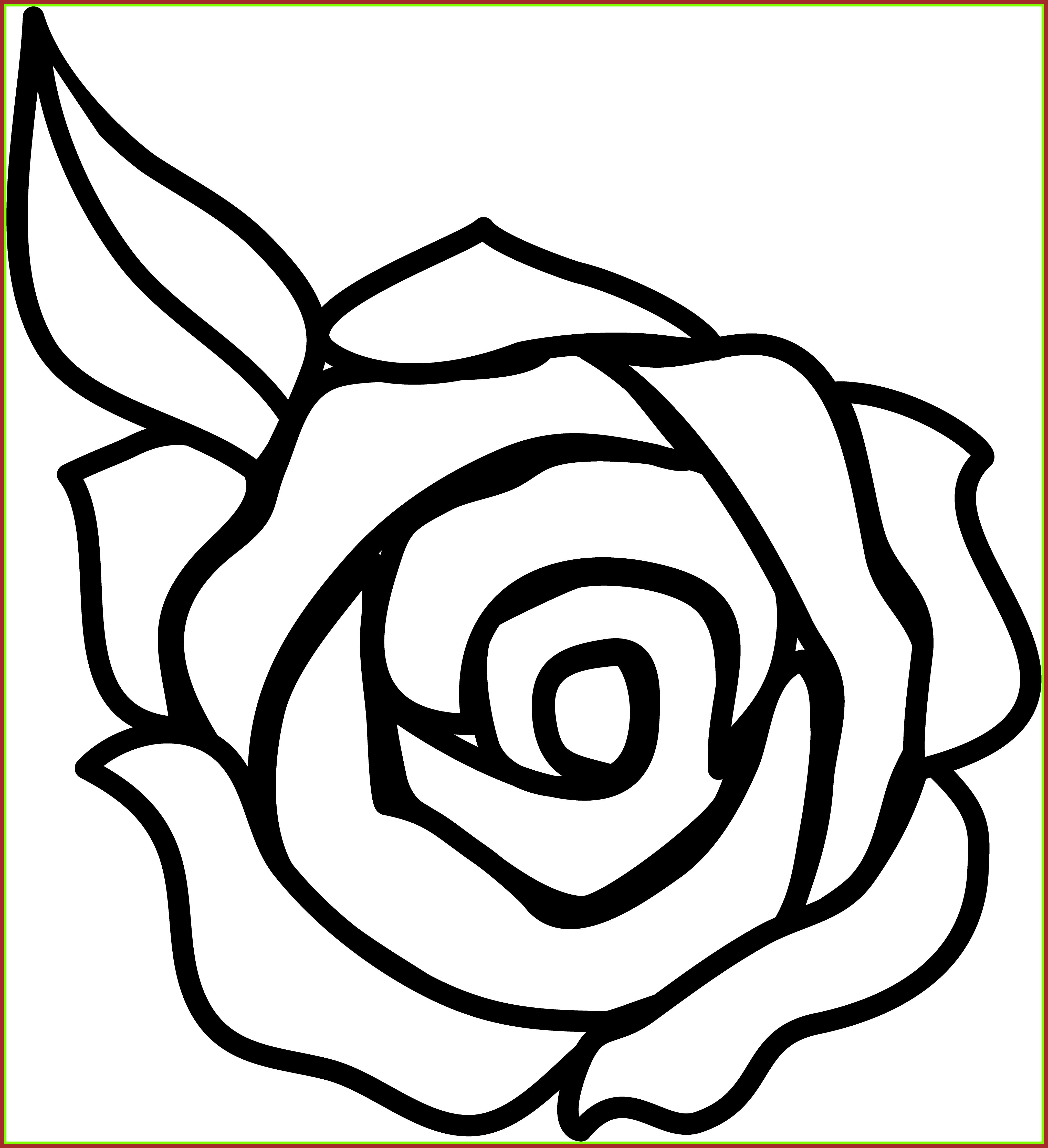 svg royalty free Incredible great flower black. A clipart rose