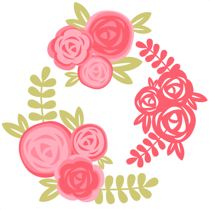 free download Set cutting file for. Svg frame rose