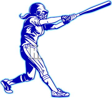 vector free stock Softball in highschool rd. Baseball clipart batting cage.