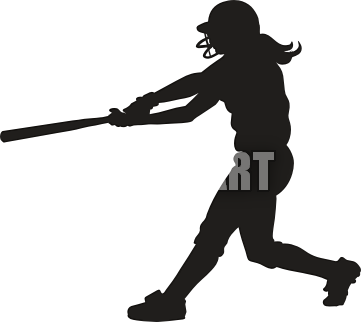 clipart library A clipart softball. Silhouette stuff pinterest