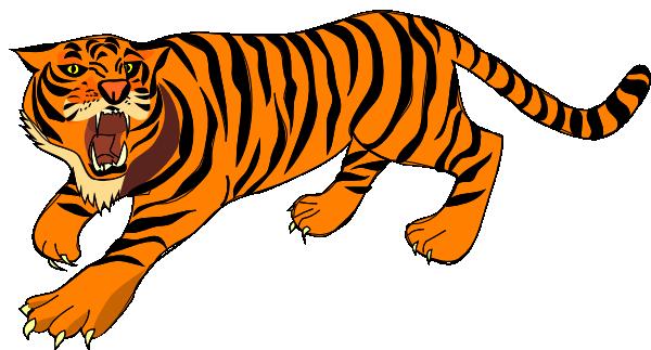 clip art download Transparent tiger small. Roaring clip art at