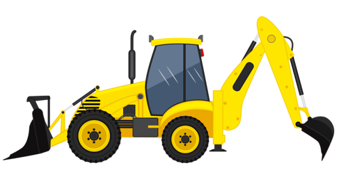 svg black and white stock excavator clipart car #78585113