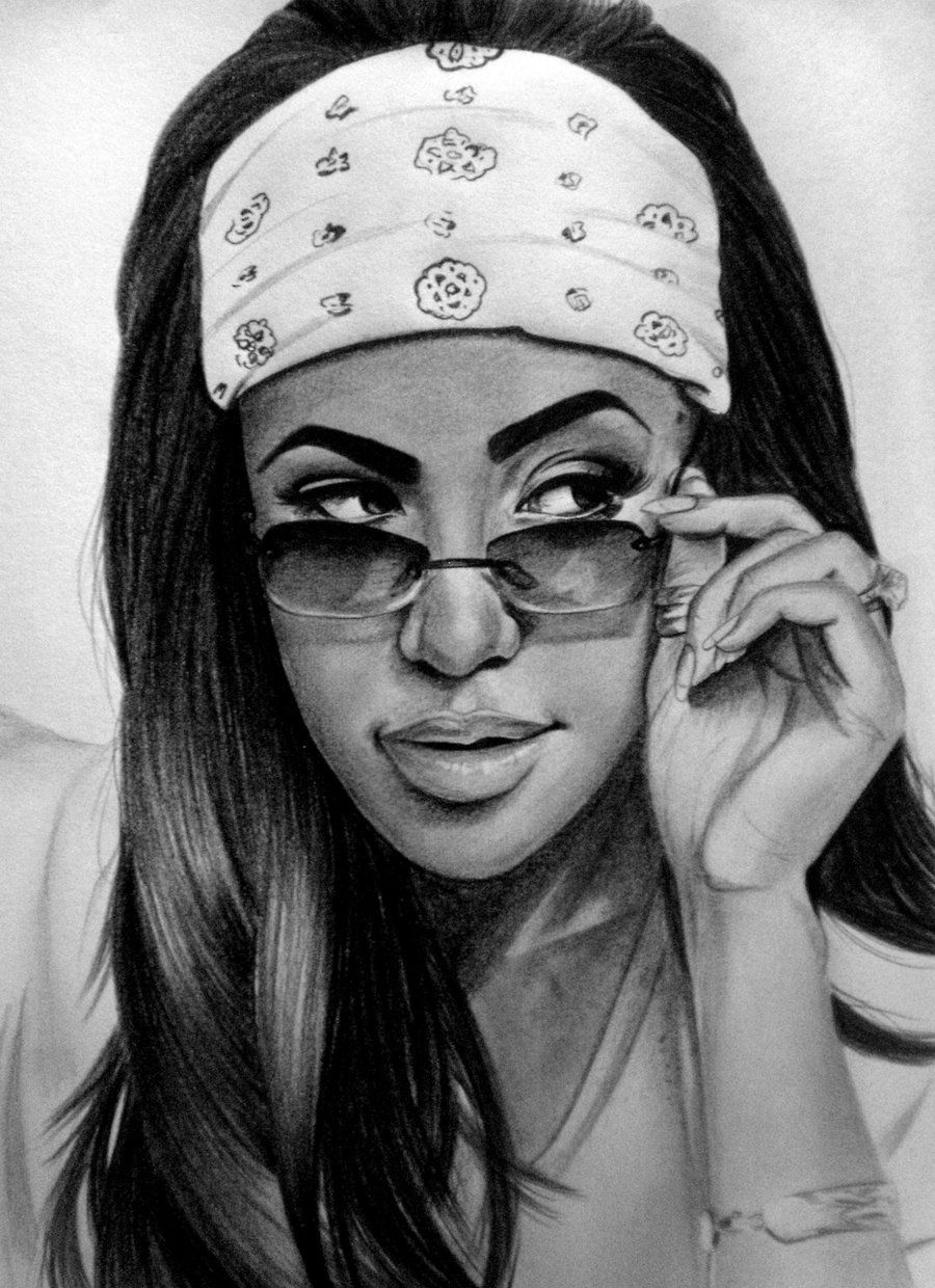 jpg library stock Black women art female. Aaliyah drawing