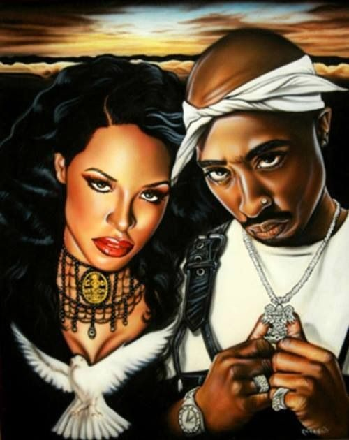 image Tupac beautiful art in. Aaliyah drawing 2pac