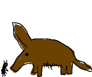 graphic black and white The Ant and The Aardvark