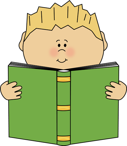 clipart freeuse library Writer clipart daily report. Boy reading a book.