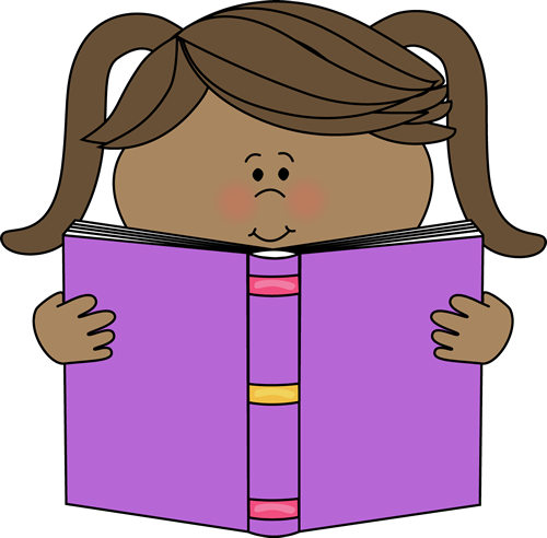 clip art download Little Girl Reading a Book